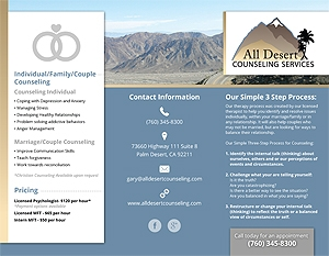 Sample Brochure for All Desert Counseling