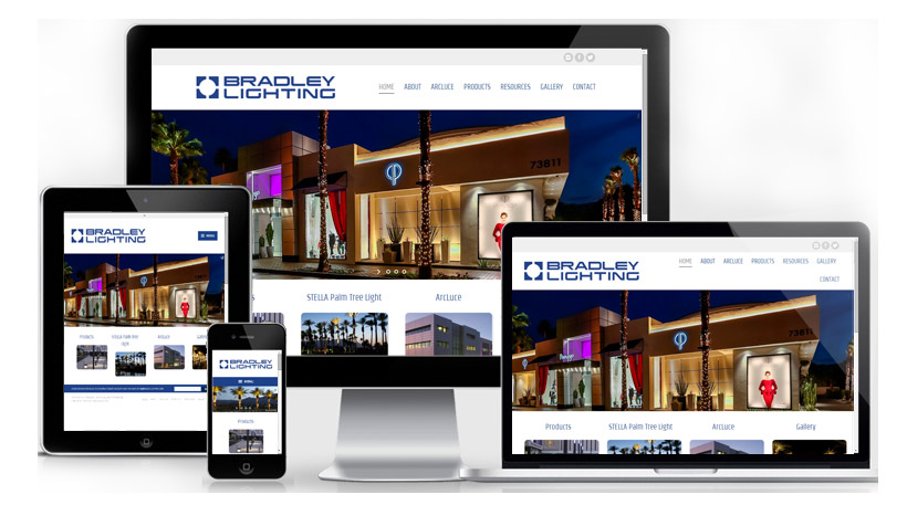 Sample Website Design Bradley Lighting