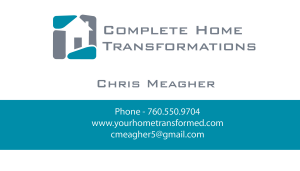 Sample Business Card Complete Home Transformations