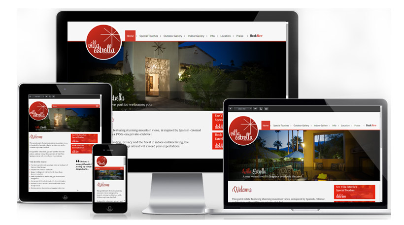 Sample Website Design Villa Estrella